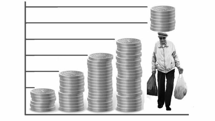 Pensioni sempre più private: pensionato schiacciato da monete