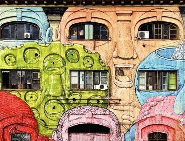 Dichiarazione di Barcellona: facciata dipinta