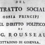 Il Contratto a-sociale: frontespizio del Contratto Sociale