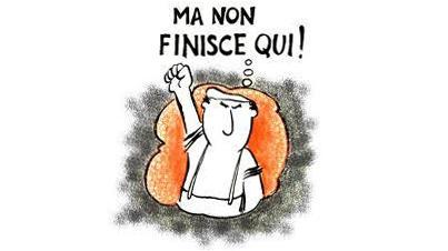 L'operaio (Giovanni) massa: vignetta di Gasparazzo