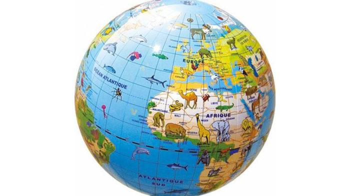 Nostra patria è il mondo intero: mappamondo
