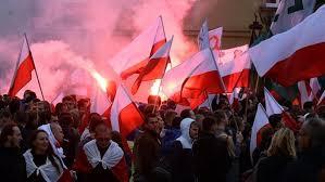 manifestazione elettorale in Polonia