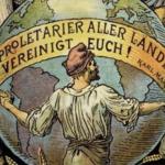 Disegno di proletario che si tiene per mano con altri
