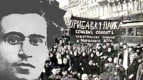 Gramsci guarda la rivoluzione russa